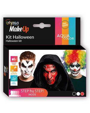 Kit Aquacolor Halloween 3 Cores 3x2gr para Carnaval ou Halloween
