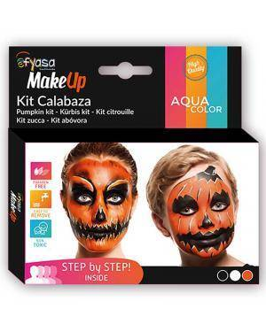 Kit Aquacolor Abóbora 3 Cores 3x2gr para Carnaval ou Halloween