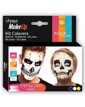 Kit Aquacolor Esqueleto 3 Cores 3x2gr para Carnaval ou Halloween