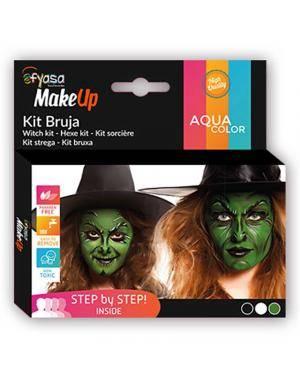 Kit Aquacolor Bruxa 3 Cores 3x2gr para Carnaval ou Halloween
