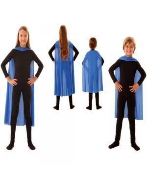 Capa Infantil Azul 70Cm para Carnaval ou Halloween