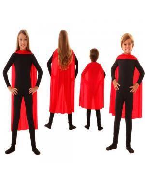 Capa Infantil Vermelha 70Cm para Carnaval ou Halloween