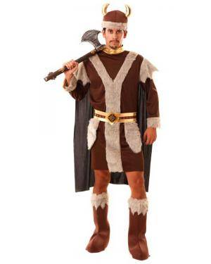 Fato Viking Homem para Carnaval ou Halloween