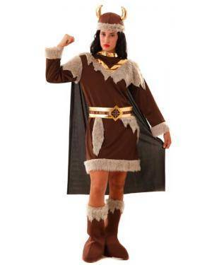 Fato Mulher Viking para Carnaval ou Halloween