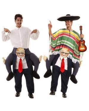 Fato às Costas do Donald Trump Ilusão M/L para Carnaval ou Halloween