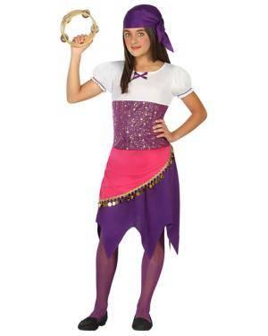 Fato Adivinha Cigana Menina de 5-6 anos Disfarces A Casa do Carnaval.pt