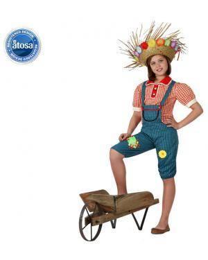 Fato Agricultor Jardineira Menina Disfarces A Casa do Carnaval.pt