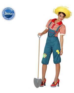 Fato Agricultor Jardineira Mulher Disfarces A Casa do Carnaval.pt