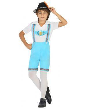 Fato Alemão Azul Menino de 7-9 anos Disfarces A Casa do Carnaval.pt