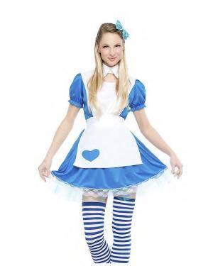 Fato Alice Maravilhas Tamanho S para Carnaval