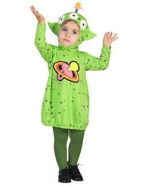 Fato Alien Menina Bebé de 0-6 meses Disfarces A Casa do Carnaval.pt