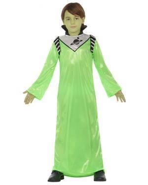 Fato Alien Verde Criança de 7-9 anos Disfarces A Casa do Carnaval.pt