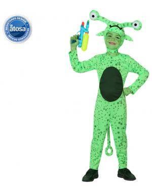 Fato Alien Verde Menino Disfarces A Casa do Carnaval.pt
