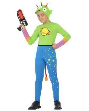 Fato Alien Verde Menino de 5-6 anos Disfarces A Casa do Carnaval.pt