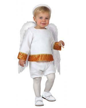 Fato Anjo Branco Bebé Disfarces A Casa do Carnaval.pt