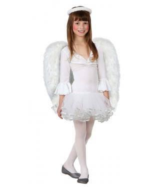 Fato Anjo Natal Branco Menina Disfarces A Casa do Carnaval.pt