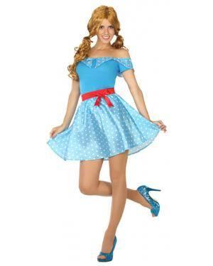 Fato Anos 50 Azul Mulher Adulto M/L Disfarces A Casa do Carnaval.pt