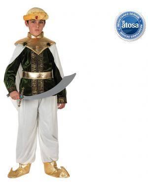 Fato Arabe Aladino Branco Menino Disfarces A Casa do Carnaval.pt