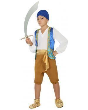 Fato Árabe Aladino Menino de 5-6 anos Disfarces A Casa do Carnaval.pt
