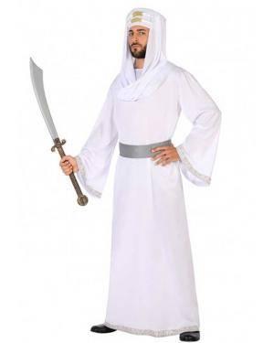 Fato Árabe Branco Adulto para Carnaval