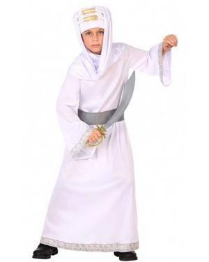 Fato Árabe Branco Infantil para Carnaval