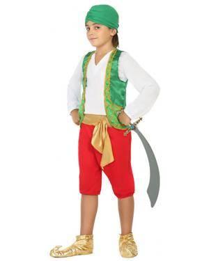 Fato Árabe Sultão Menino de 7-9 anos Disfarces A Casa do Carnaval.pt