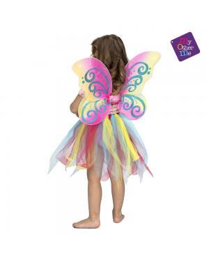 Fato Arco Iris com Asas 3 a 6 Anos para Carnaval