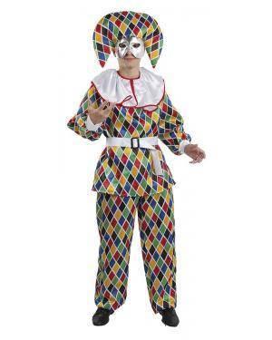 Fato de Arlequim Adulto para Carnaval | A Casa do Carnaval.pt