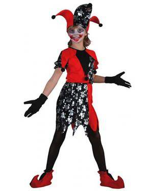 Fato Arlequim Halloween Menina Disfarces A Casa do Carnaval.pt