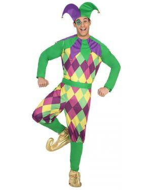 Fato Arlequim Homem Adulto M/L Disfarces A Casa do Carnaval.pt