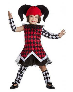 Fato Arlequim Menina 7-9 Anos Disfarces A Casa do Carnaval.pt