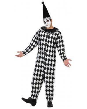Fato Arlequim Pierrot Adulto Disfarces A Casa do Carnaval.pt