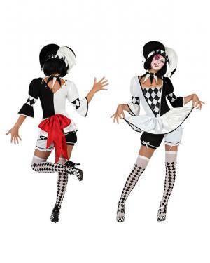 Fato Arlequim Pierrot Sexy Disfarces A Casa do Carnaval.pt