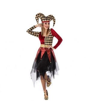 Fato Arlequim Rojo Adulto para Carnaval