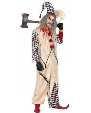 Fato Arlequim Sangrento Adulto para Carnaval