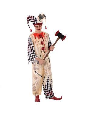 Fato Arlequim Sangrento Juvenil para Carnaval