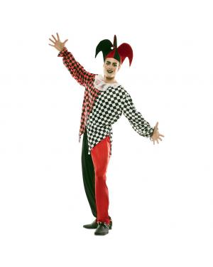 Fato Arlequim Vermelho Homem para Carnaval