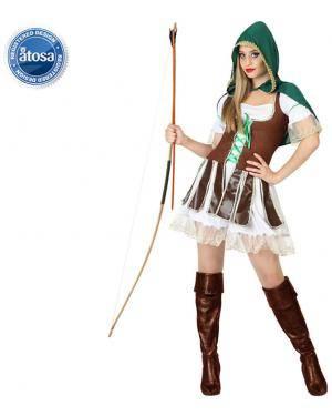 Fato Arqueira Robin Sexy Adulto Disfarces A Casa do Carnaval.pt