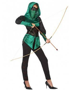 Fato Arqueira Verde Mulher para Carnaval