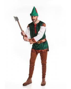 Fato Arqueiro Robin Adulto T. M/L Disfarces A Casa do Carnaval.pt