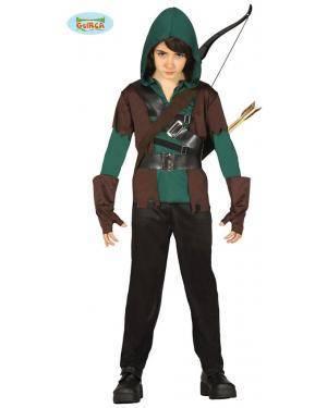 Fato Arqueiro Robin Arrow para Menino Disfarces A Casa do Carnaval.pt