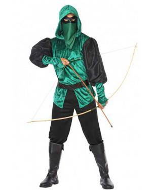 Fato Arqueiro Verde Adulto para Carnaval