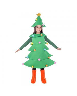 Fato Arvore de Natal Criança para Carnaval