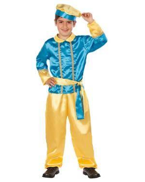 Fato Assistente do Rei Mago Azul Disfarces A Casa do Carnaval.pt