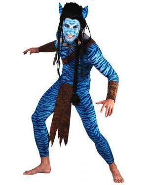 Fato Avatar Homem Guerreiro Adulto 70605, Loja de Fatos Carnaval acasadocarnaval.pt, Disfarces, Acessórios de Carnaval, Mascaras, Perucas, Chapeus