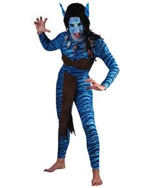 Fato Avatar Mulher Guerreira Adulto 70605, Loja de Fatos Carnaval acasadocarnaval.pt, Disfarces, Acessórios de Carnaval, Mascaras, Perucas, Chapeus