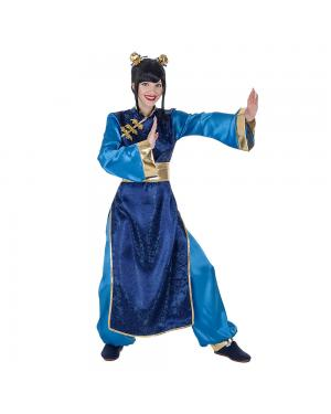 Fato Azul Chinesa para Carnaval
