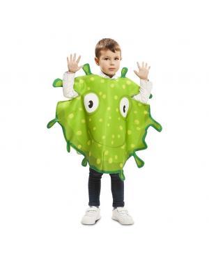 Fato Bactérias Verdes de 3 a 4 anos para Carnaval