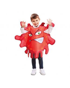 Fato Bactérias Vermelhas 3 a 4 anos para Carnaval