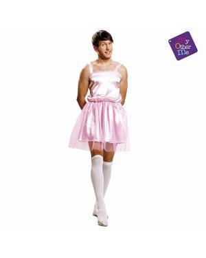 Fato Bailarina Rosa Homem M/L para Carnaval